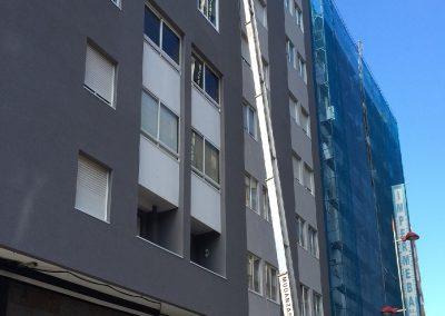 Elevador de fachada para mudanza Vigo
